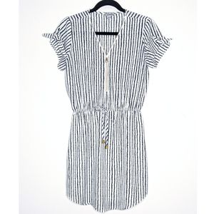 J for Justify Striped Zipper Front Dress